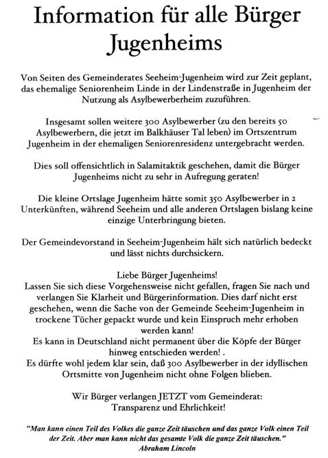 2015 01 16 Jugenheim Flugblatt Asylsuchende